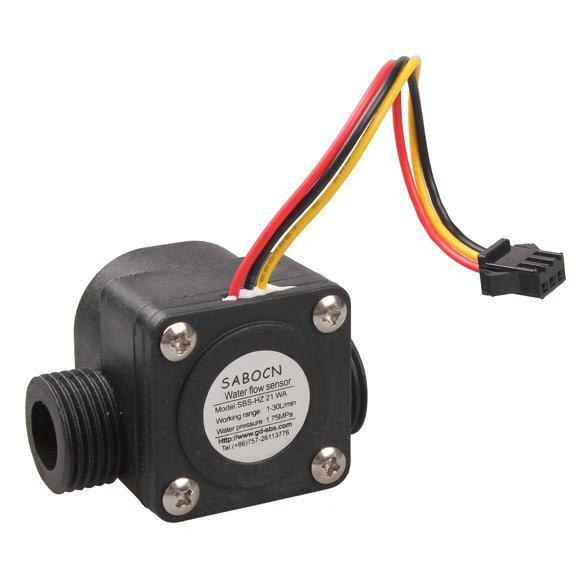 G1/2 Water Flow Sensor Fluid Flowmeter G 1/2 for Arduino