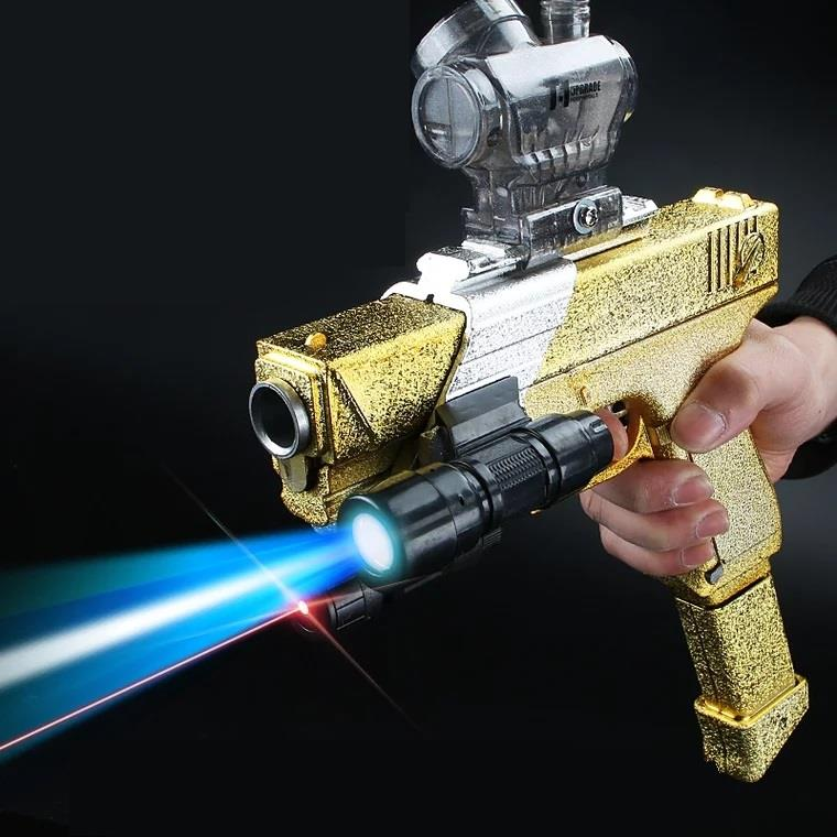 G18 jelly toy gun Electric Blowback Crystal Gel Bullet Glock GOLDEN