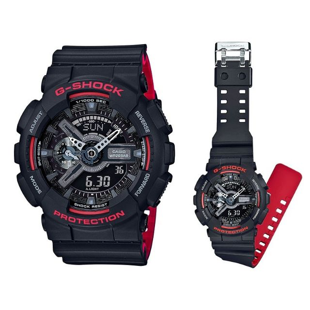 GA-110HR-1A CASIO ORIGINAL G-SHOCK MEN'S SPORT ANADIGITAL CASUAL (WARRANTY+BOX