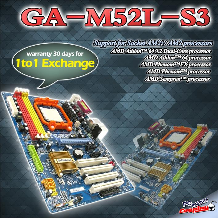 amd am2 cpu list ga m52l s3 socket am2 ddr2 800 mothe end 4262017 214 pm