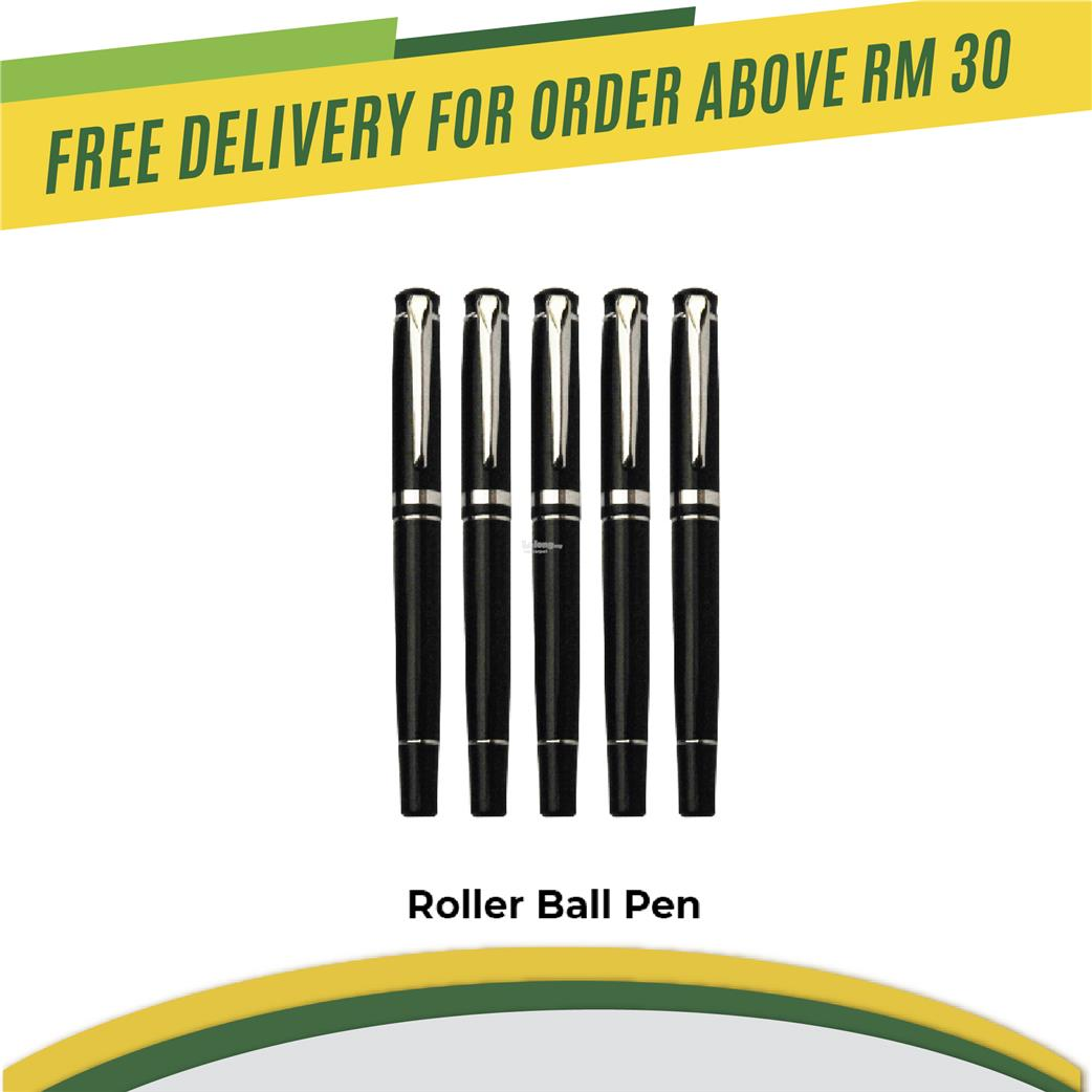 Gala roller ball pen or ball pen black colour print custom