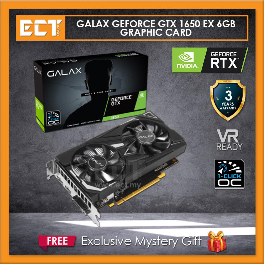 GALAX GeForce\u00ae GTX 1650 EX (1-Click OC) 4GB Graphics Card
