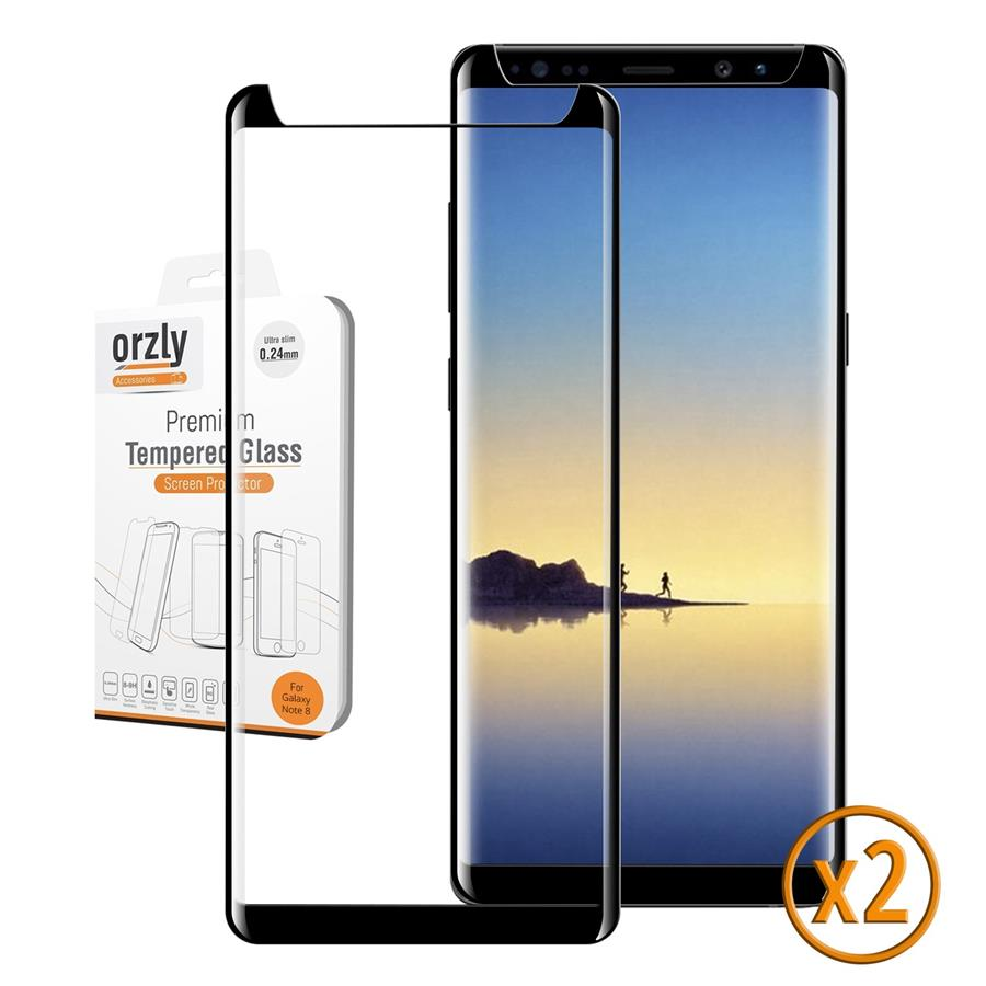 Galaxy Note 8 - Orzly Pro-Fit 3D Full Cover Glass Screen Protector