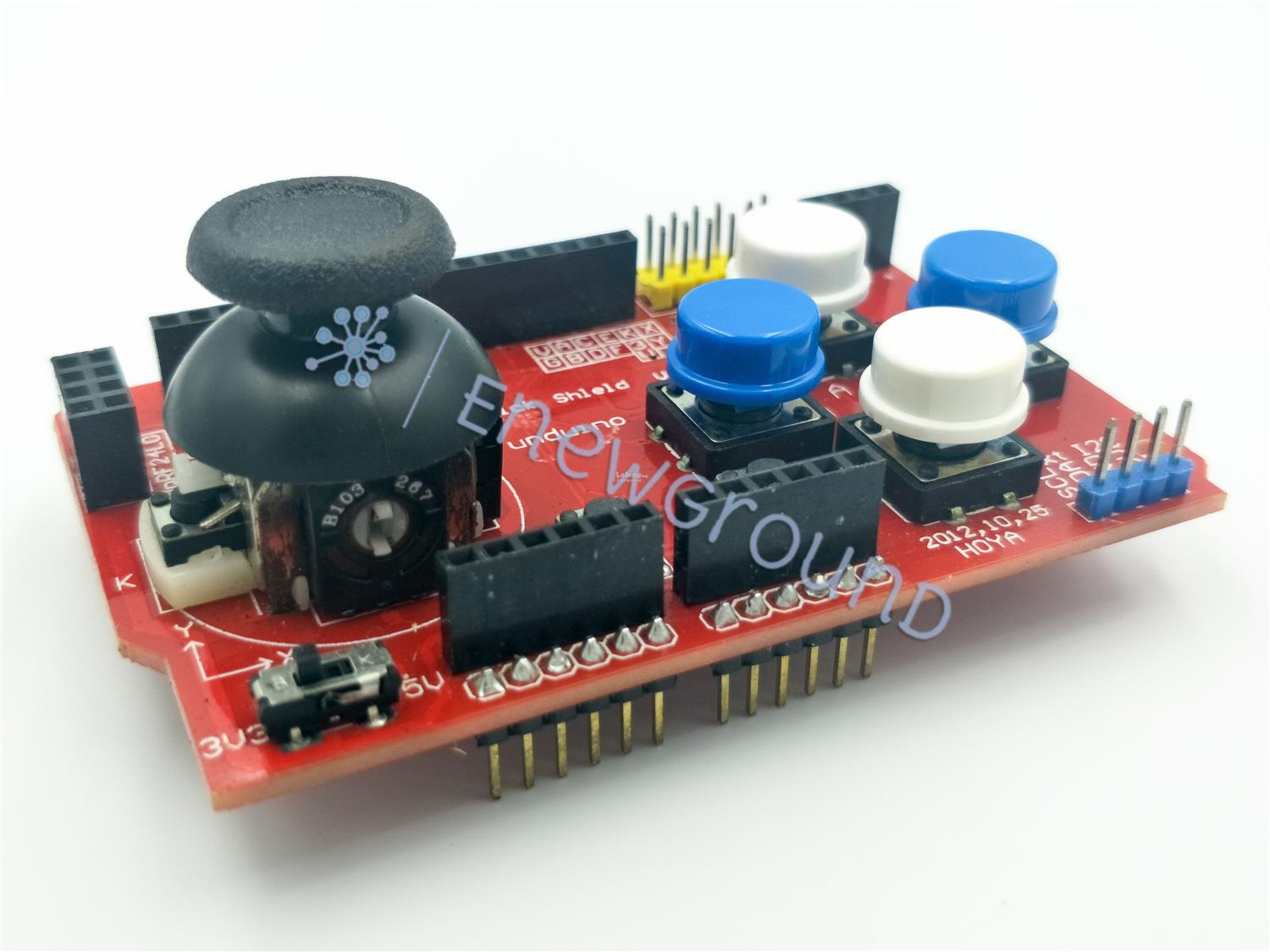 Game pad shield for Arduino UNO/Mega (Analog joystick and button)
