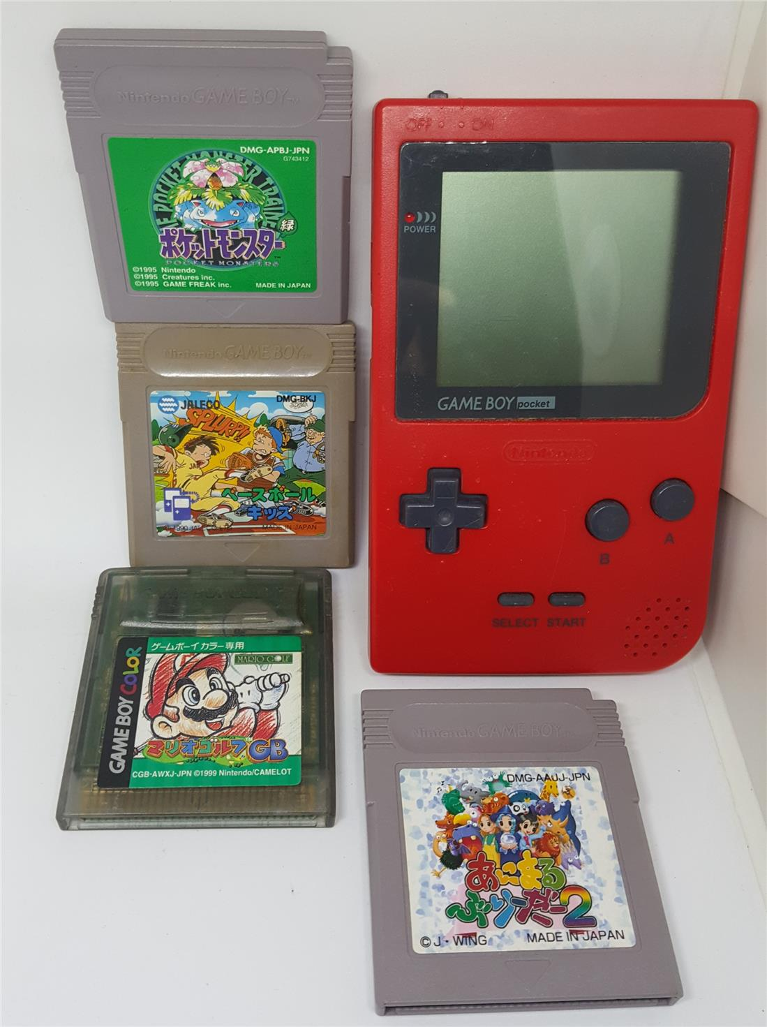 Gameboy Pocket Red Free 4 Game Tapes (end 6/21/2019 4:52 PM)