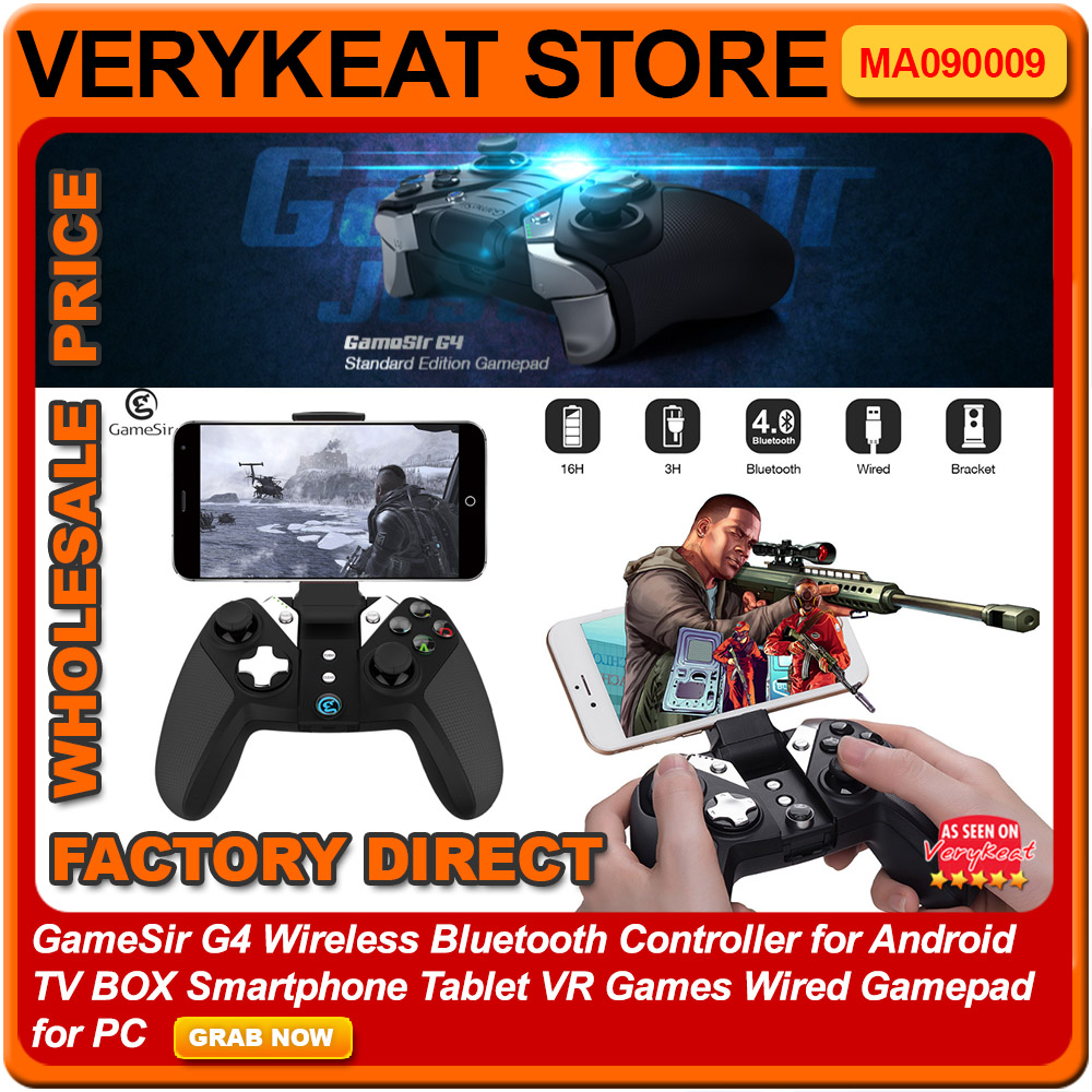 Gamesir G4 Bluetooth Game Controller End 6 8 2019 1030 Am Joystick It Gaming For Smartphone Pad Tab Android Tablet