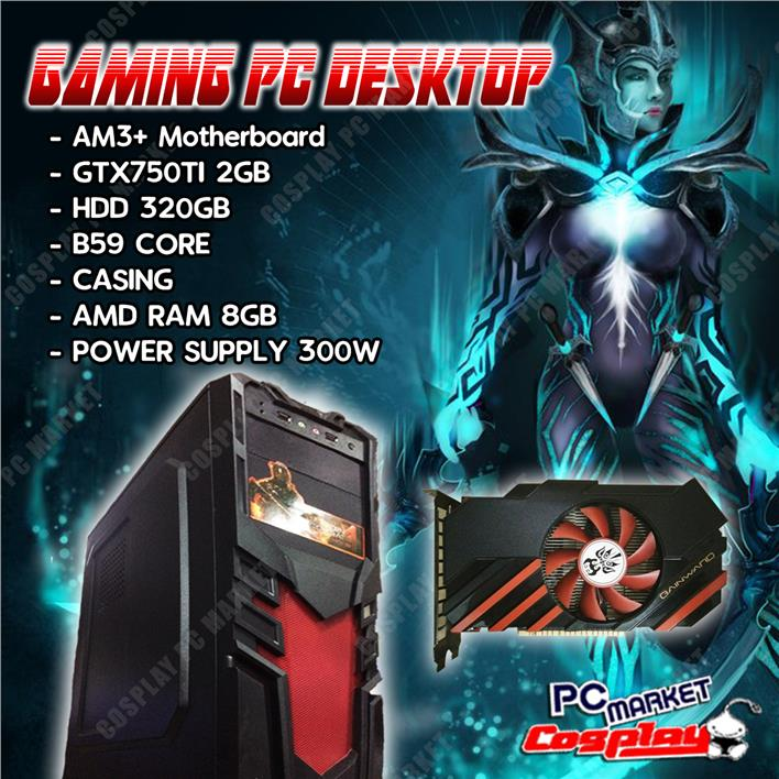 GAMING DESKTOP 4 CORE GTX750 TI 8GB Ram