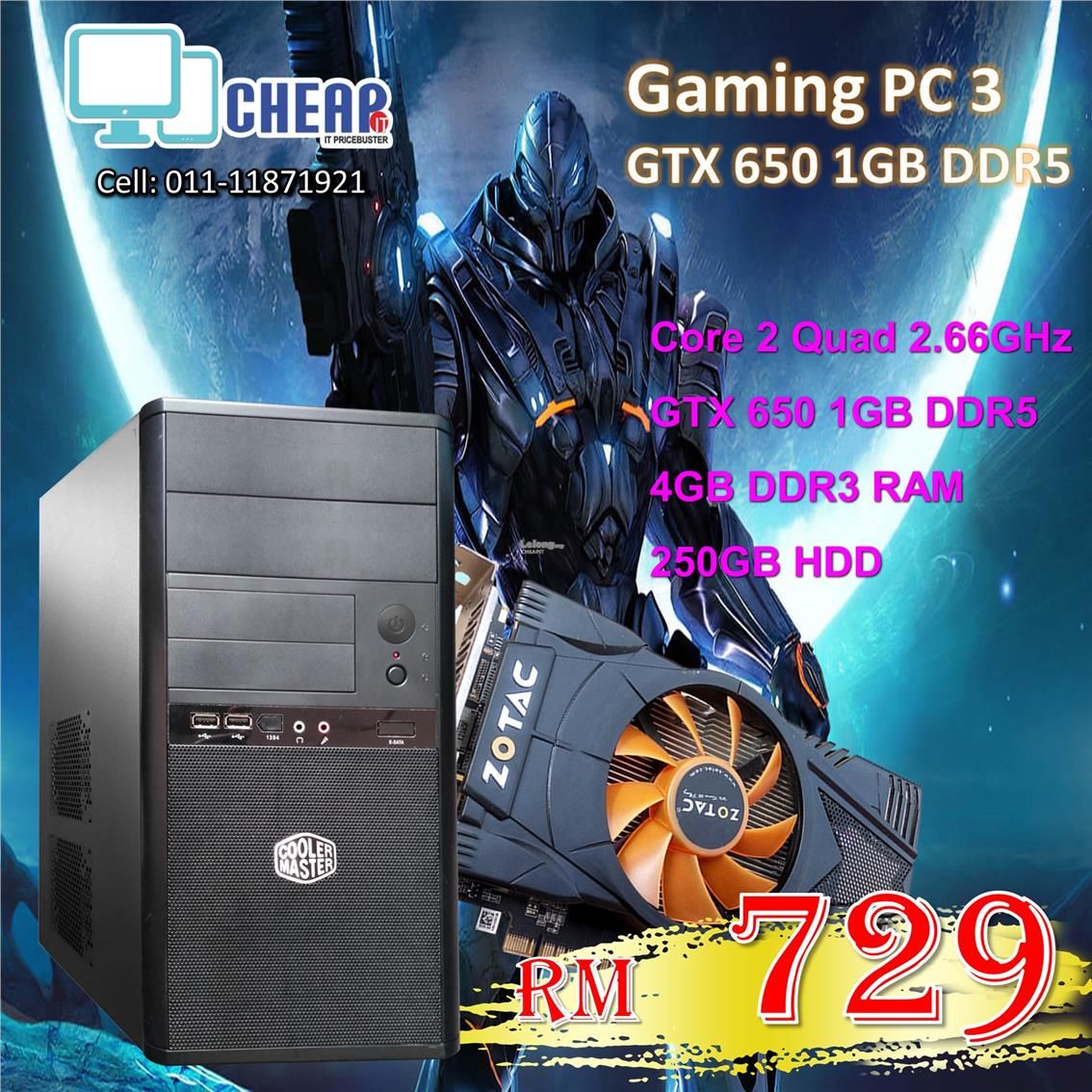 Gaming PC Core 2 Quad + GTX 650 1GB DDR5