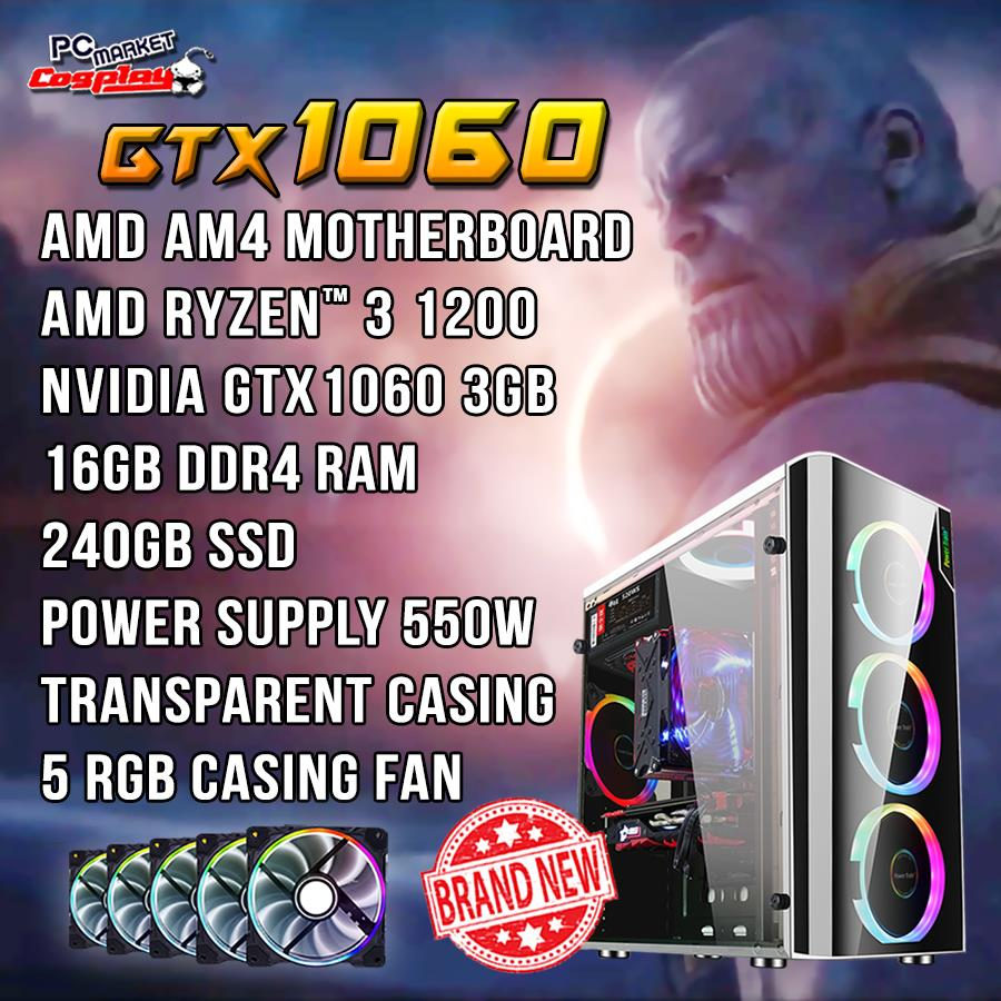 Gaming PC Desktop AMD Ryzen 3 GTX10 (end 10/26/2019 6:15 PM)