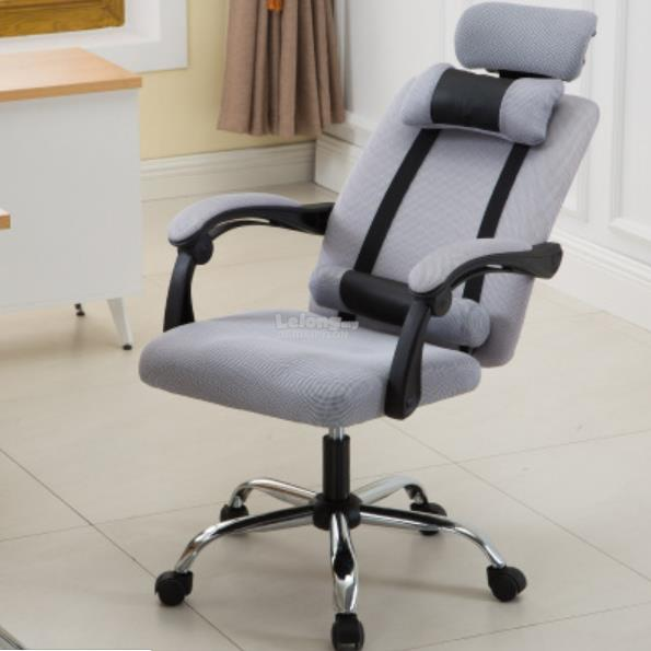 Gaming Swivel Office Chair [GREY] Simple Office Table Game adjustable