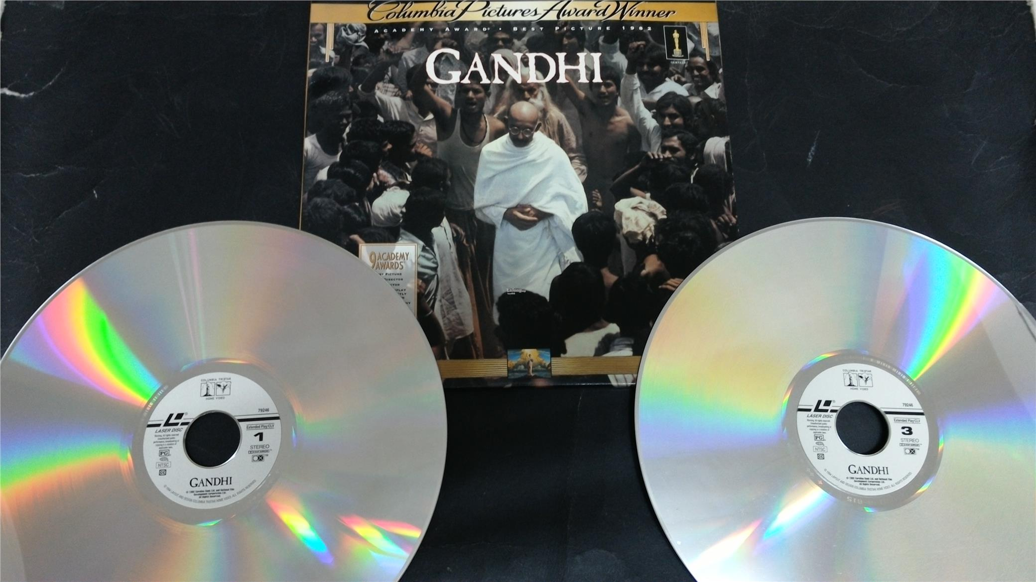 GANDHI THE MOVIE LASER DISC LD