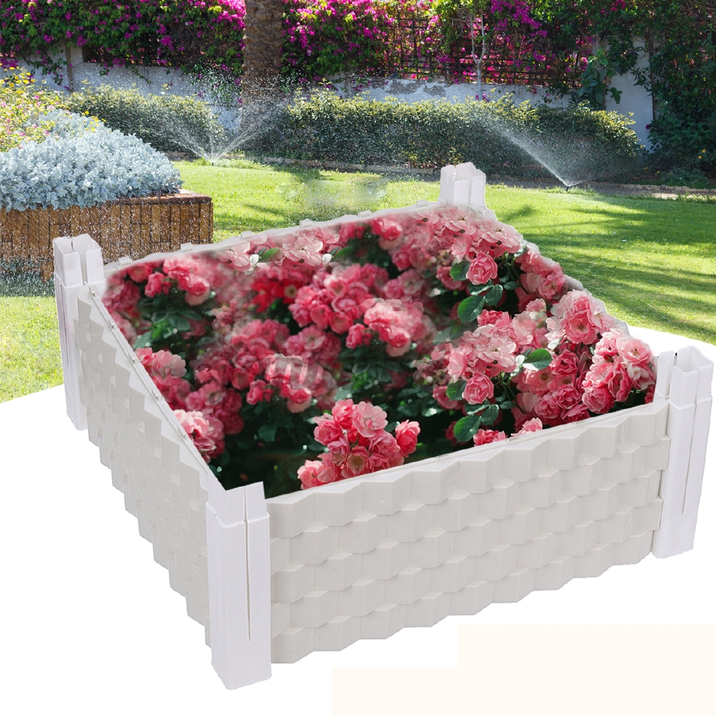 Garden Raised Bed Plastic Vegetable Planter Garden Planting Grow 39x39