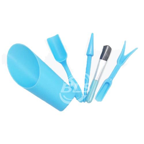 GARDENING TOOLS SET BLUE COLOR PLASTIC MADE SMALL SIZE TOOLS 园&..