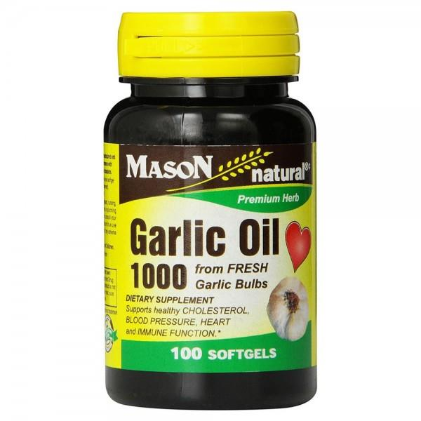 Garlic Oil 1000mg, from Fresh Garlic (Made In USA)