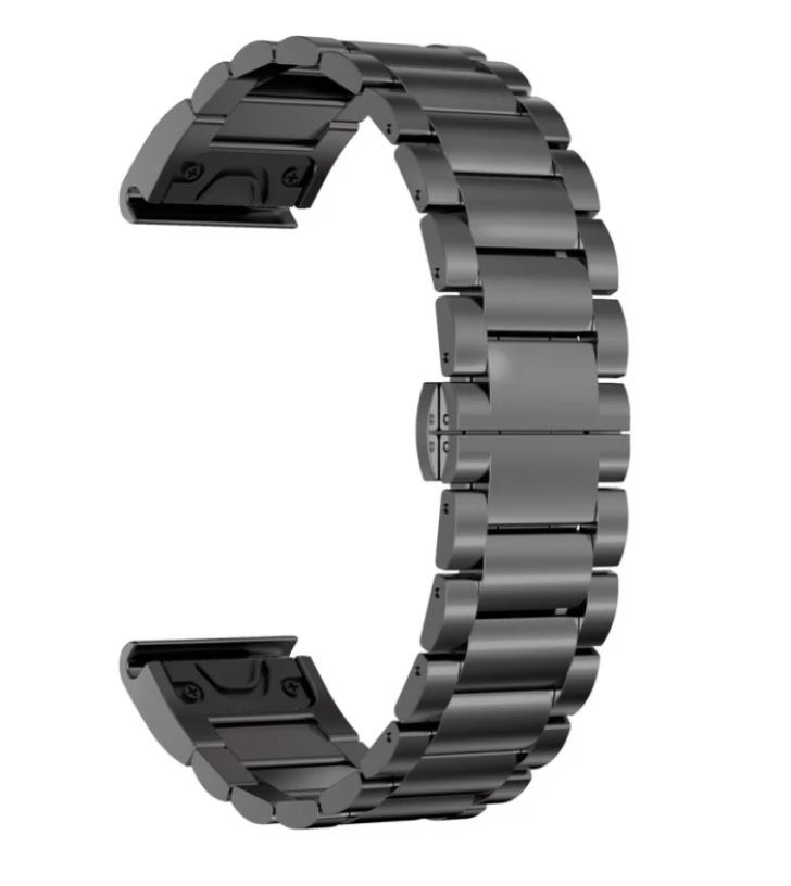 Garmin Fenix 5 Quick Fit Stainless Steel Watch Band/Strap 22MM