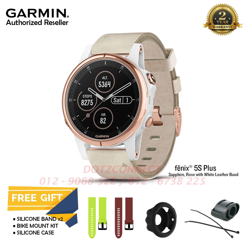 658333078de Garmin Fenix 5S Plus Sapphire Rose Gold with Beige Leather Band Multis. ‹ ›