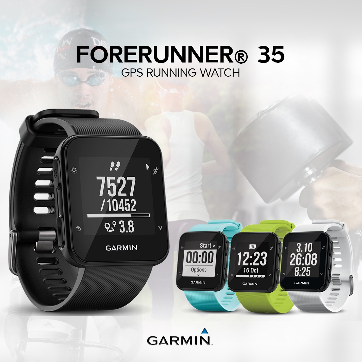 Running Limelight010 Garmin 35 Watch Forerunner Gps 01689 43 rthQsdC