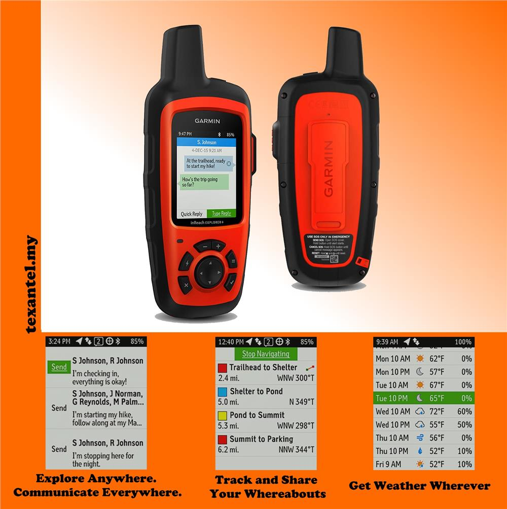 Garmin inReach Explorer+ GPS Handheld Satellite Communicators