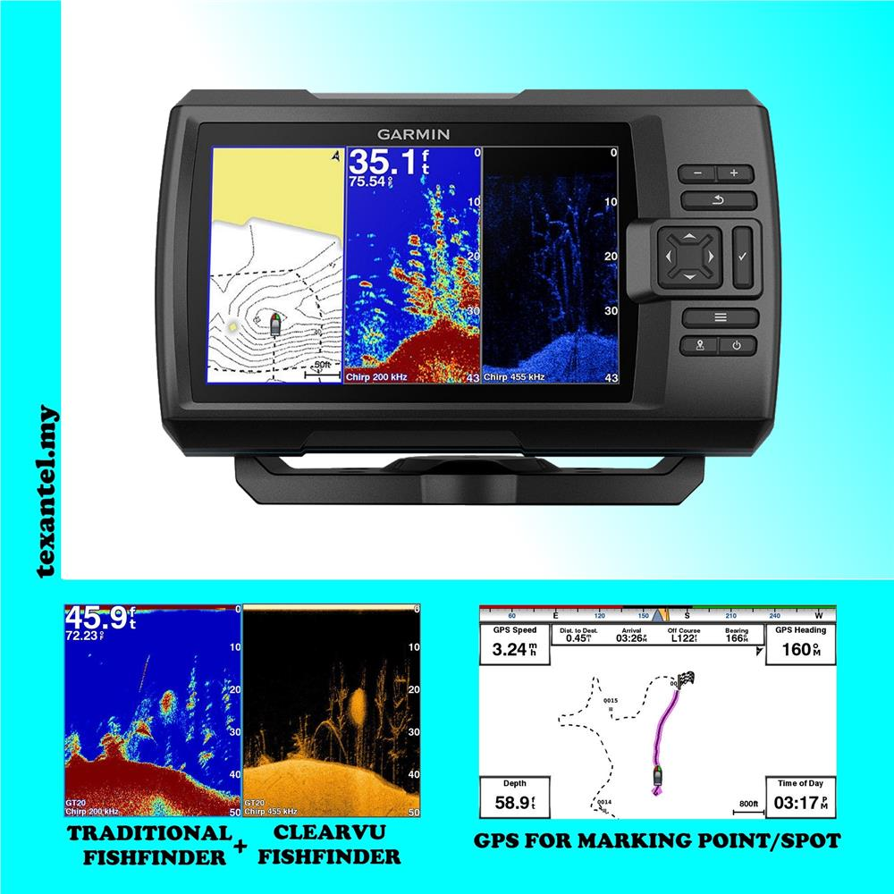 Garmin Striker Plus 5CV CHIRP Fishfinder GPS - ClearVü Scanning Sonar