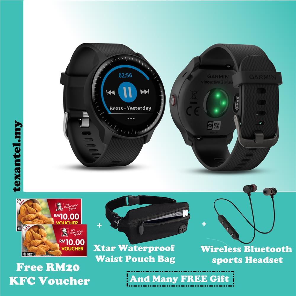 Garmin Vivoactive 3 Music Watch Free RM20 KFC Voucher & Others Gift