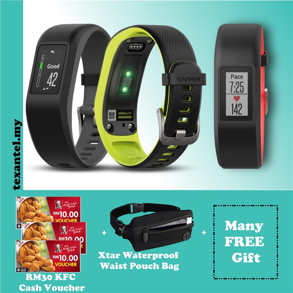Garmin Vivosport Watch Band Free RM30 KFC Voucher & Others Gifts