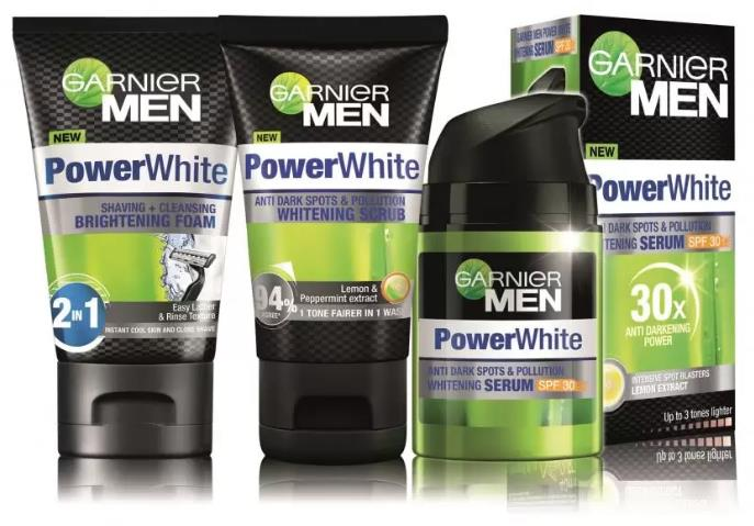 Product details of Garnier Men Power White Skincare Set #15 (Scrub, Cleanser, Moisturizer, FREE GIFT)