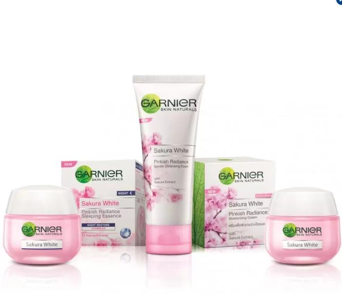 Product details of Garnier Sakura White Skincare Set #13 (Cleanser, Day & Night Moisturizer, FREE GIFT)