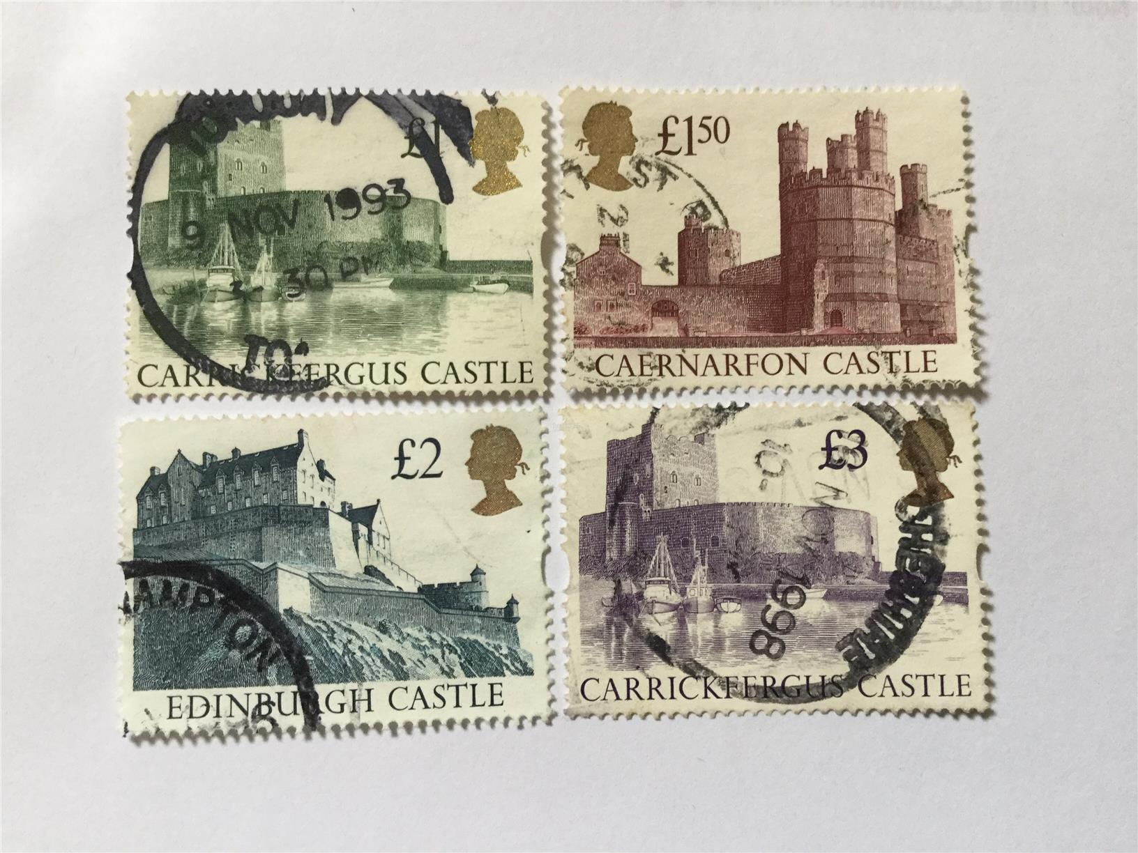 GB Uk 4 High Value Stamps