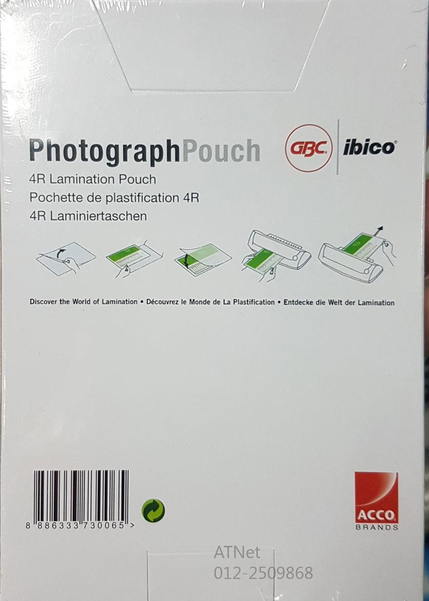 GBC 4R LAMINATION PHOTOGRAPH POUCH 110X160MM 100PCS