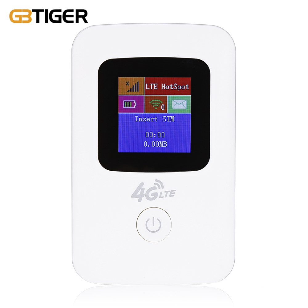 GBTIGER K11 PORTABLE MOBILE 4G LTE WIRELESS ROUTER WIFI HOTSPOT LCD DI..