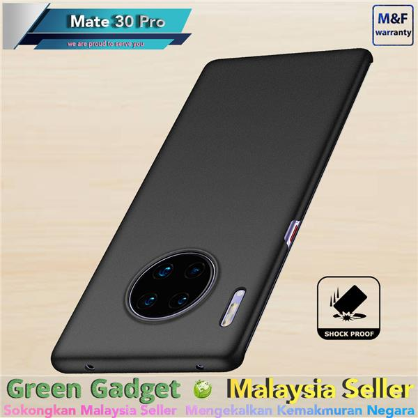 GD Huawei Mate 30 Pro Case Cover Thin Fit Hard Kes Keras (Black)