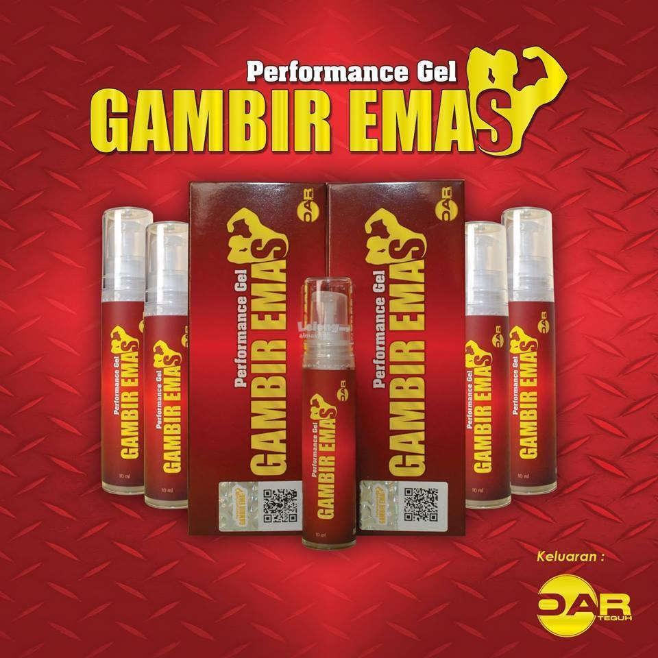 GE G.a.m.b.i.r Emas Original HOLOGRAM ( delay spray tahan lama gel )