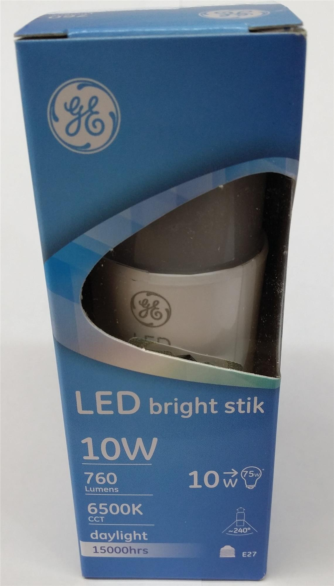 GE LED BRIGHT STIK E27 BULB 10W (6500K/3000K)
