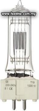 GE T19 240v 1000w FWR 88457 Studio/Showbiz lamps