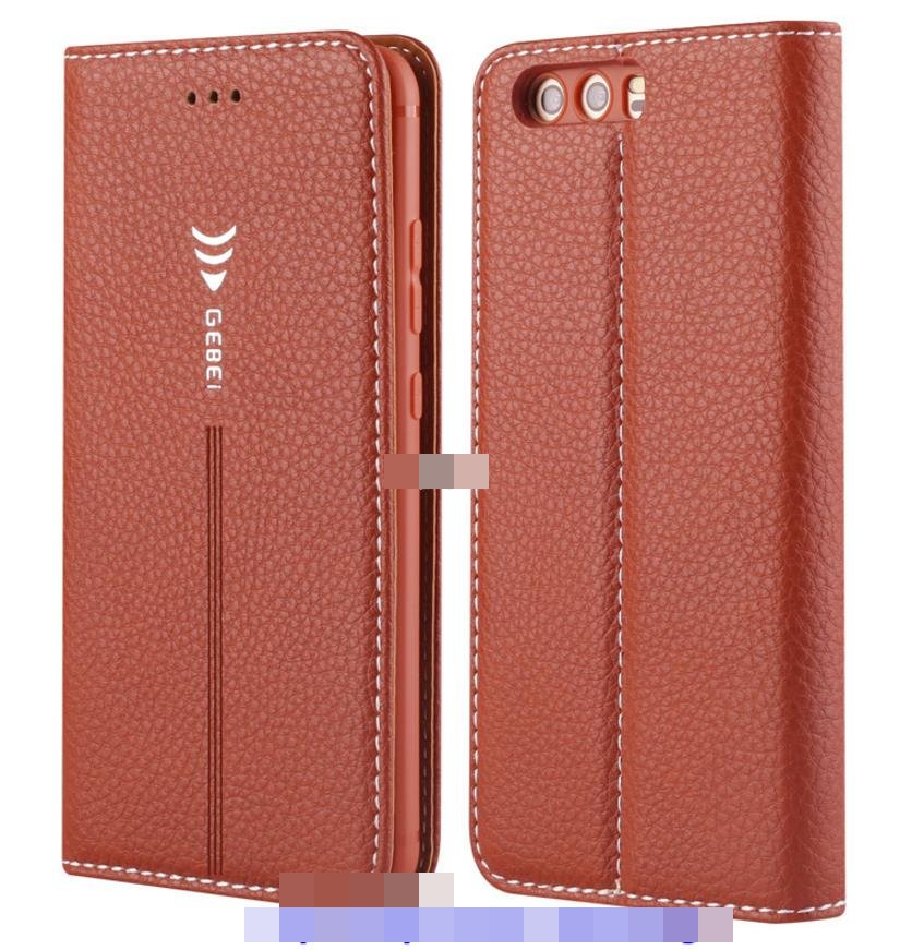 GEBEI Huawei P10 / Plus Flip Card Slot Leather Case Cover Casing