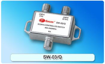 Gecen 22KHz Tone Switch Controlled Switch for Satellite Dish SW-03