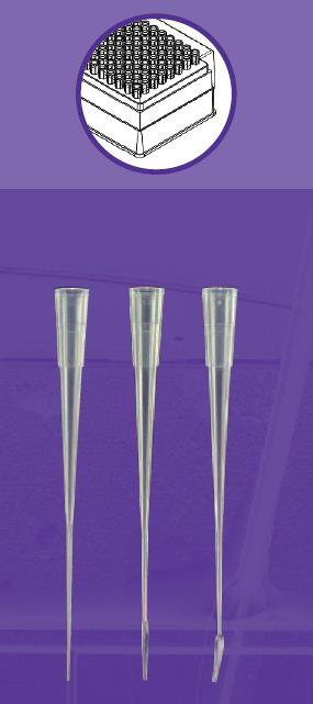 Gel loading tips, MicroFlex Tip 0.57mm Round Tip, Racked