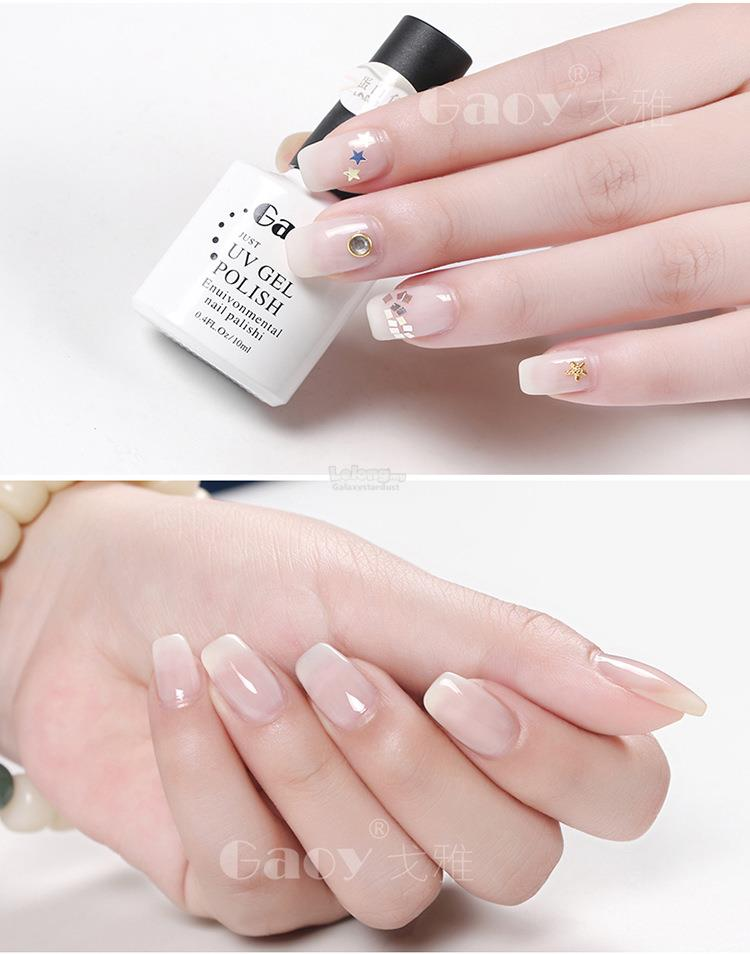 Gel Polish Milky Nude White,Elegant French Manicure,Jelly High Gloss