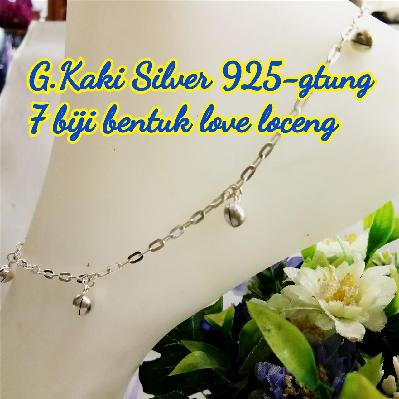 gelang kaki silver 925 7 biji bentuk end 1 29 2019 3 15 pm