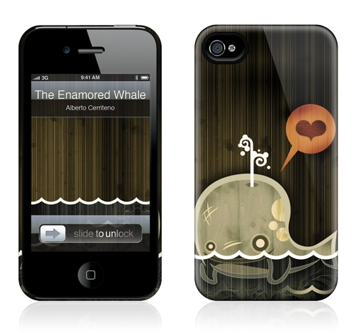 Gelaskins Hardcase for iPhone 4 4s - The Enamored Whale