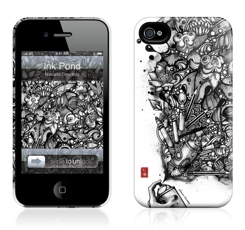Gelaskins Hardcase for iPhone 4 4s - Ink Pond
