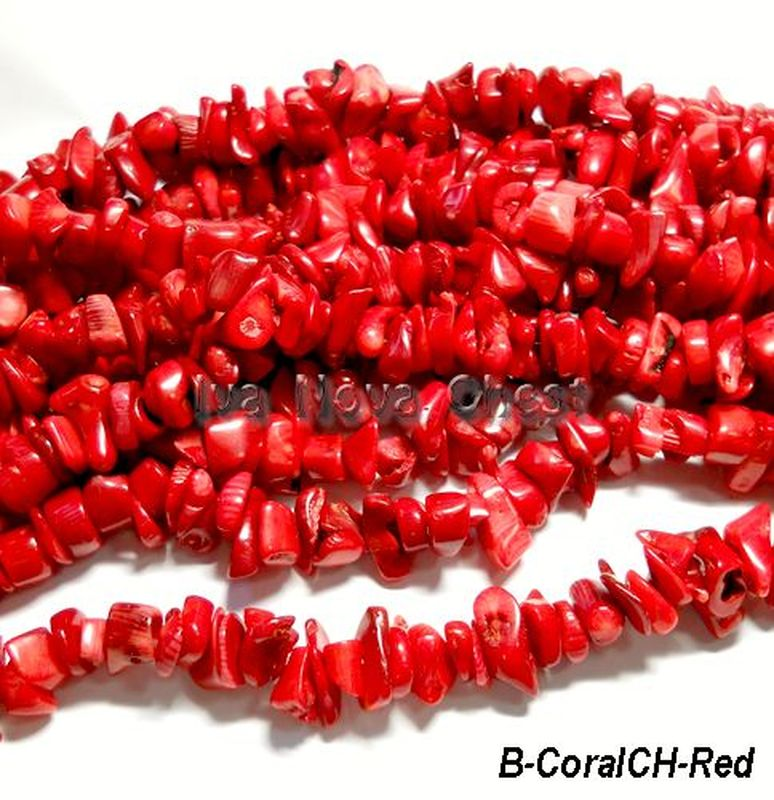 361ce25749c93 Gemstone Beads Natural Red Coral Beads Chips