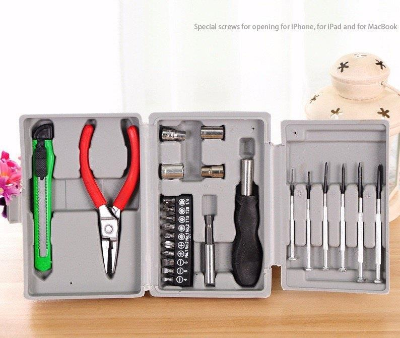 Generic 24PCS Household Multifunctional Toolbox Hardware Combination