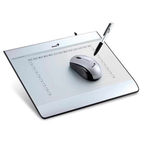 GENIUS 6'x8' GRAPHIC TABLET WITH CORDLESS MOUSE&PEN (i608X)