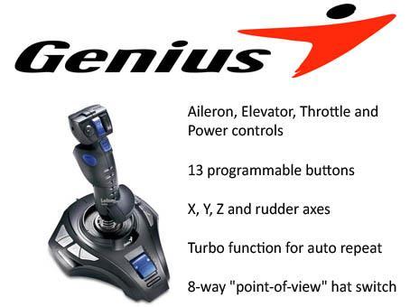 Genius MetalStrike 3D USB Joystick for PCs (Metalstrike 3D)