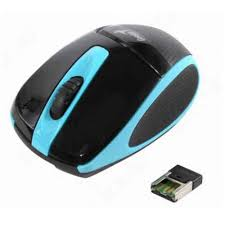 GENIUS WIRELESS OPTICAL BLUEEYE MOUSE  DX-7000 BLUE