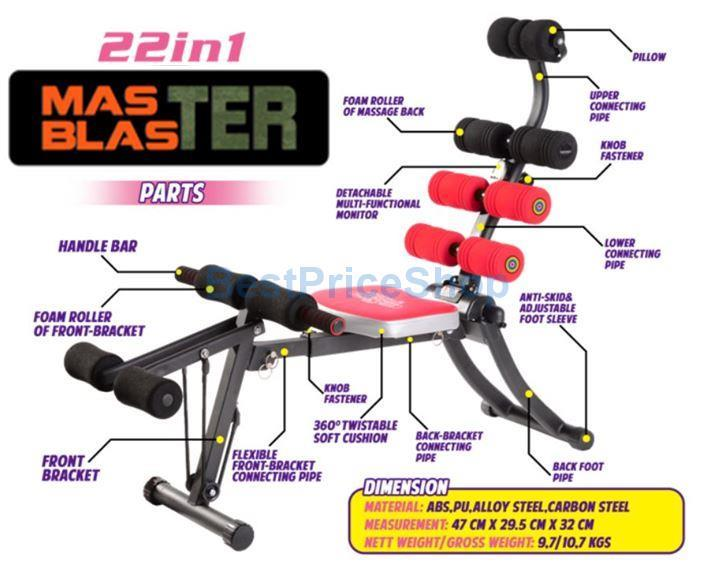 Genuine 22 in 1 Super ABS Six Packs Care Sit Up Bench 1 year Warranty