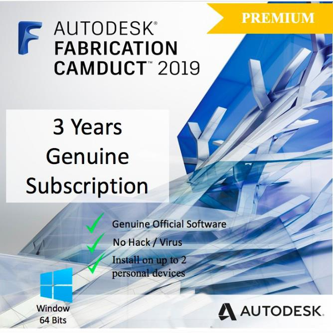 [Genuine] Autodesk Fabrication CAMduct 2019 3 Years License [Windows64