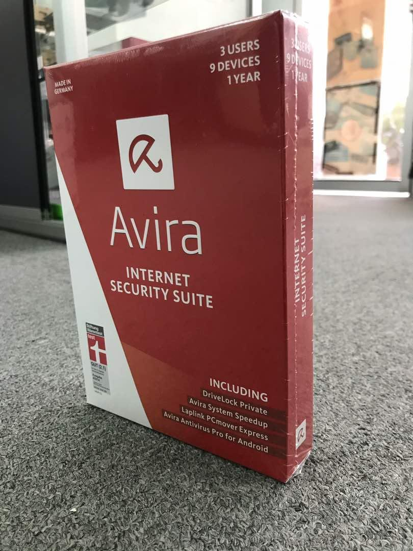 GENUINE Avira Internet Security - Suite (3 Users - 9 Devices) - 1Year