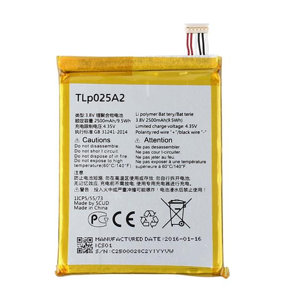 Genuine Battery TLP025A2 Alcatel One Touch Pop C9 / 7047D ~2500mAh
